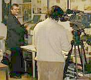 Konrad am TV-Set