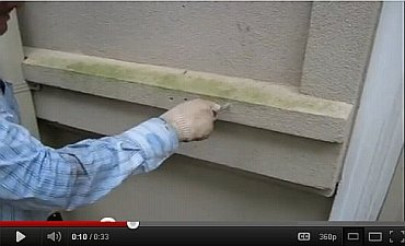 Poking a hole in EIFS with a pencil