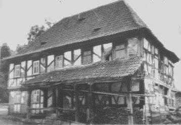 Baroque half-timbered house before the repair