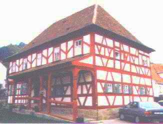 Baroque half timbered house after change, renovation and restoration